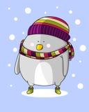 Uccello nella neve Immagini Stock Libere da Diritti