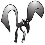 Uccello nero bizzarro royalty illustrazione gratis