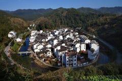 Uccello-occhio del villaggio di Jujing Fotografie Stock Libere da Diritti