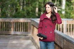 Uccello-osservatore grazioso di autunno Fotografie Stock
