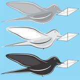 Uccello postale Fotografia Stock Libera da Diritti