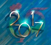 Uccello rosso del gallo del gallo Calendario di cinese di simbolo del testo del nuovo anno Carattere divertente del fumetto svegl Fotografie Stock