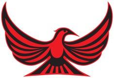 Uccello stilizzato esotico del fumetto fotografia stock