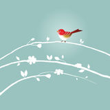 Uccello sul ramo royalty illustrazione gratis