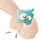 Uccello terrorizzato del fumetto Fotografia Stock