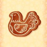 Uccello tradizionale del dolce di natale di vettore decorato Fotografia Stock Libera da Diritti