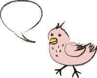 Uccello tweeting del fumetto dentellare Immagini Stock