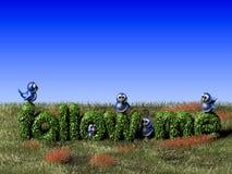 Uccello twittering blu che se lo leva in piedi su un seguire barriera Fotografie Stock Libere da Diritti