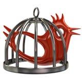 Uccello in una gabbia Immagine Stock Libera da Diritti