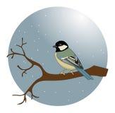 Uccello in una neve Illustrazione Vettoriale