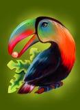 Uccello variopinto del tucano illustrazione di stock