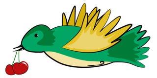 Uccello verde Fotografia Stock