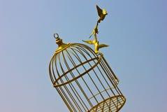 Uccello vuoto di arte dorato Immagini Stock