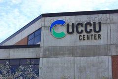 UCCU中心在犹他谷大学 库存照片