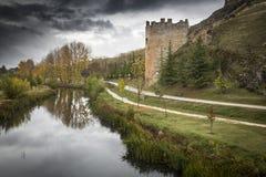 Ucero rzeka w El Burgo de Osma Obrazy Stock