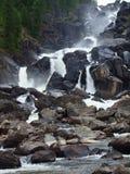 Uchar falls, mountain Altai Stock Photo