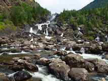 Uchar falls, mountain Altai Stock Photos