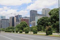 Uchibori Avenue and high rise building in Marunouchi Stock Images