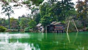 Uchihashi-tei Tea House. Inside Kenrokuen park at Kanazawa stock image