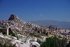uchisar cappadoccia的城堡 免版税库存图片