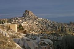 Uchisar in Cappadocia Royalty-vrije Stock Foto