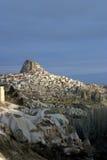 Uchisar in Cappadocia Royalty-vrije Stock Afbeelding