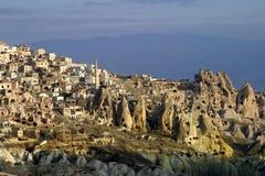 Uchisar in Cappadocia Stock Foto
