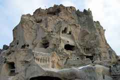 Uchisar in Cappadocia Stock Afbeelding