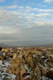 Uchisar in Cappadocia Stock Afbeeldingen