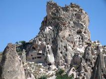 Uchisar Cappadocia Fotografia Stock Libera da Diritti