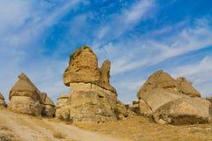 uchisar的cappadocia 免版税图库摄影
