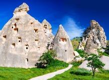 Uchisar, Cappadocia, Turchia Fotografia Stock Libera da Diritti