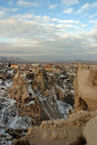 Uchisar in Cappadocia Stock Photo