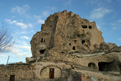 Uchisar in Cappadocia Stock Photography
