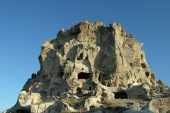 Uchisar in Cappadocia Royalty Free Stock Photo