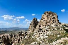 uchisar cappadociaslottkalkon Arkivbilder