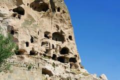 Uchisar castle Stock Photos