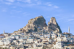 Uchisar castle. Capadocia. Turkey. View of Uchisar castle in Cappadocia Royalty Free Stock Photography
