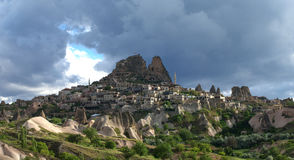 The Uchisar castle in Cappadocia, Stock Photography