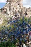 Uchisar Castle in Cappadocia, Stock Images