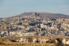 Uchisar castle in Cappadocia Stock Photos