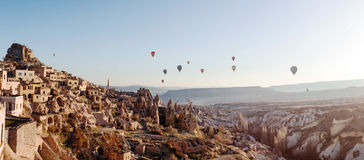 Uchisar Castle in Cappadocia Stock Image