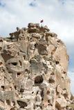 Uchisar Castle in Cappadocia, Royalty Free Stock Photography