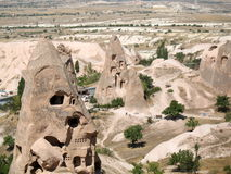 Uchisar cave city in Cappadocia, Turkey. Uchisar cave city, Cappadocia, Turkey Royalty Free Stock Photos