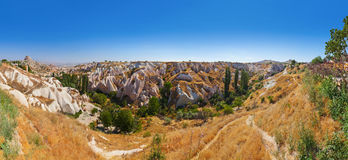 Uchisar cave city in Cappadocia Turkey. Nature background Stock Photography
