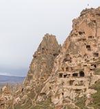 Uchisar, die Türkei Stockfotos