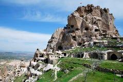 Uchisar en Cappadocia Fotografía de archivo libre de regalías