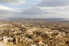 uchisar sikt för cappadociakalkon Royaltyfri Fotografi