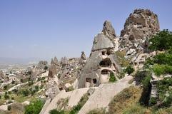 uchisar slott Arkivbilder