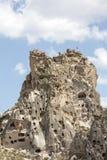 Uchisar slott, Cappadocia, Nevsehir Royaltyfria Bilder